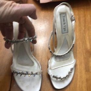 Satin dyeable bridal shoes